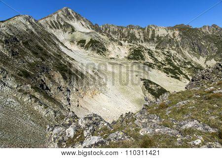 Panoramic view around Polezhan peak, Pirin Mountain