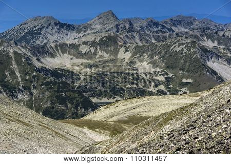 Panoramic view of northern part of Pirin Mountain