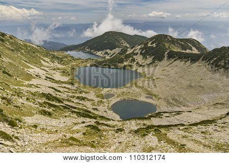 Amazing Panorama of Kremenski lakes from Dzhano peak