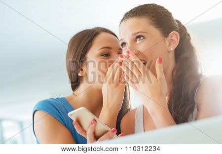 Girls Gossiping And Having Fun