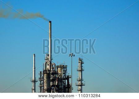 Petroleum Oil Refinery Smokestack