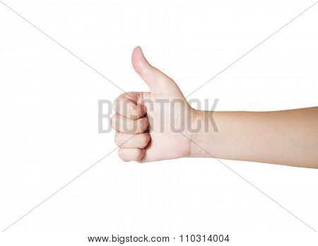 Woman Hand Sign