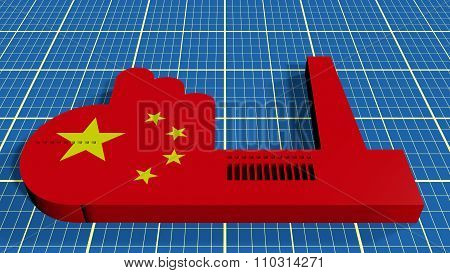 China heavy industry concept image