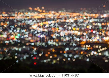 blur light of city