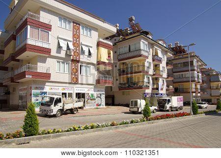 Konakli, Turkey - June, 2014: Front View From The Street