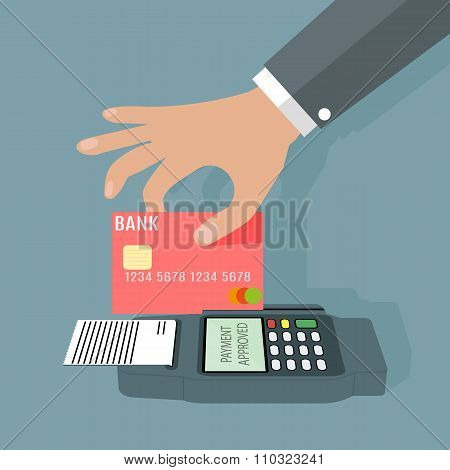 POS terminal transaction