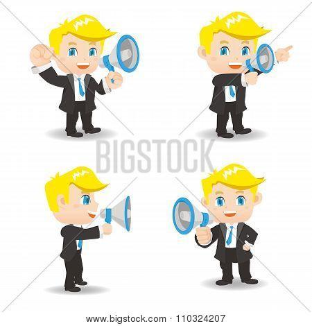 Businessman Show Trumpet