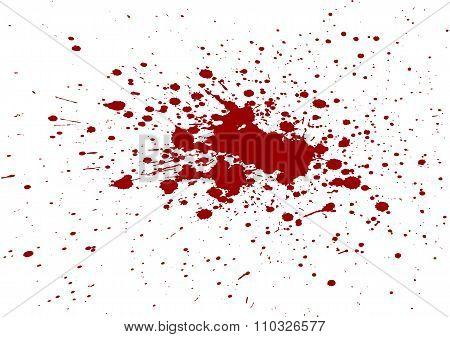 Vector Blood Splatter Isolated