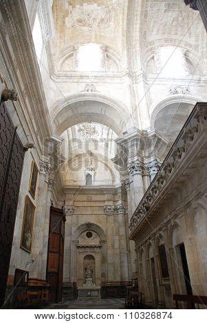 Inside Cadiz Cathedral.