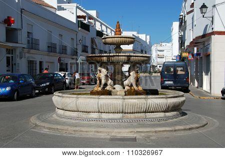 Lion fountain, Conil de la Frontera.