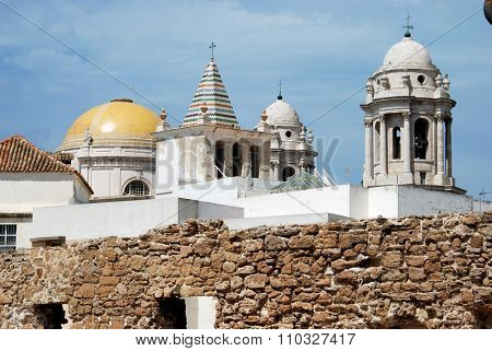 Cadiz Cathedral Dome and tower.