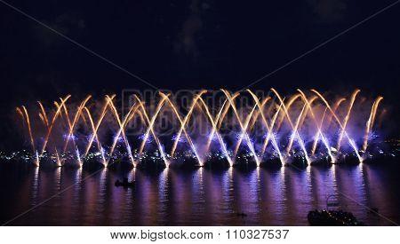 fireworks salute illumination