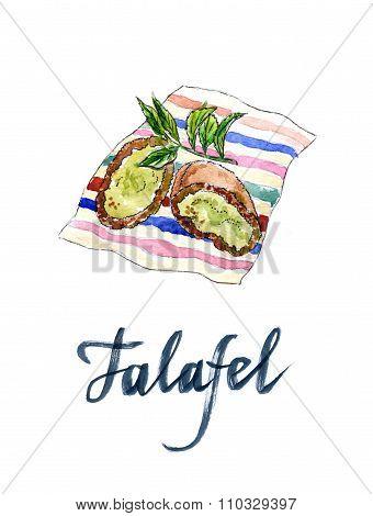 Two Half Falafel Chickpea Balls