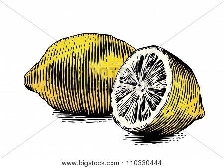 Whole And Half Lemon