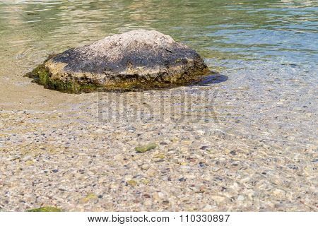 One Big Stone Boulder And Seabed