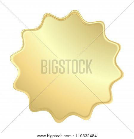 Empty Vector Gold Label That Can Be Used As A Seal, The Price Tag Or Badge