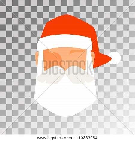 Santa Claus flat icon avatar vector illustration
