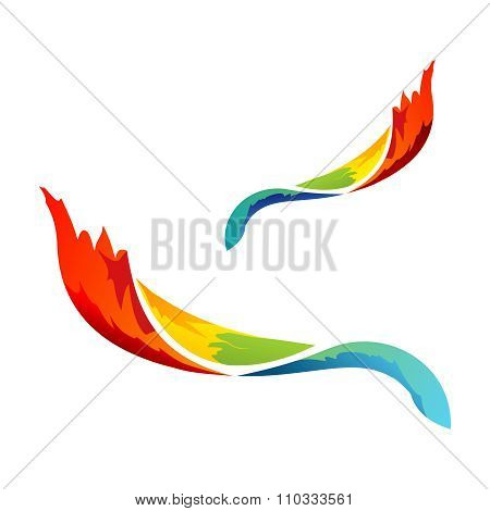 Vector Rainbow Paintbrush stroke