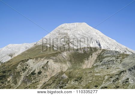 Vihren Peak In The Pirin Mountain, Bulgaria,