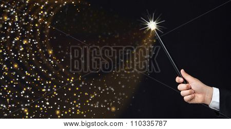 Magician Hand Conjuring Sparks