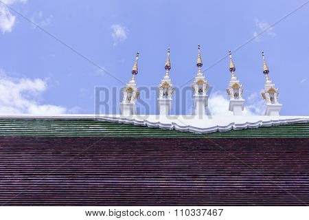 Gable Apex On Roof In Thai Temple