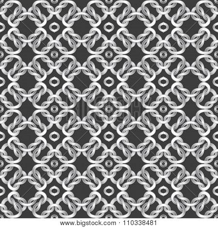 White net on black background. seamless pattern