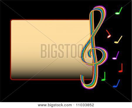 Music cardboard