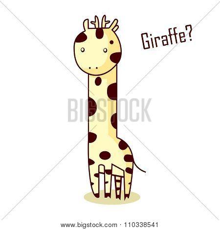 Vector Cute Cartoon Giraffe