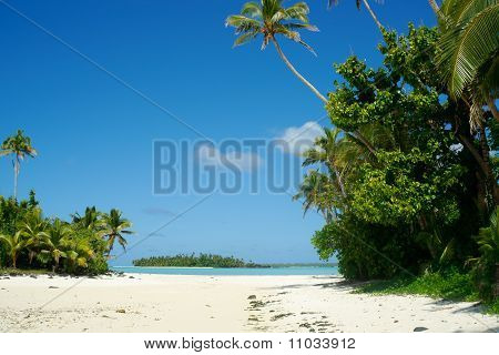 Idyllic island scene.
