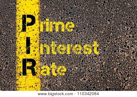 Accounting Business Acronym Pir Prime Interest Rate