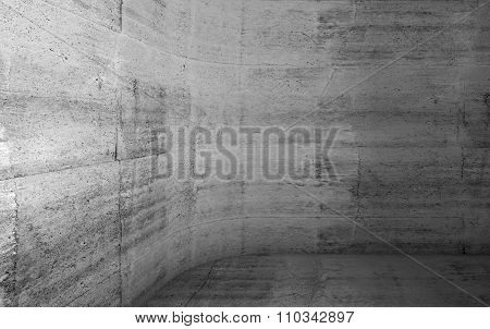 Abstract Concrete Interior With Rounded Corner 3D