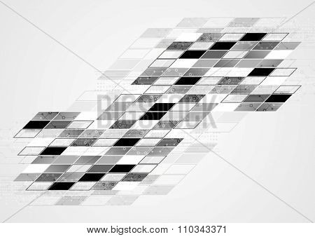 Abstract black white tech geometric corporate background