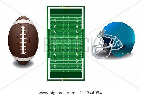 American Football Elements Illustration