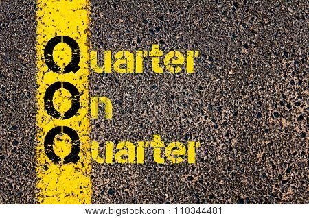 Accounting Business Acronym Qoq Quarter On Quarter