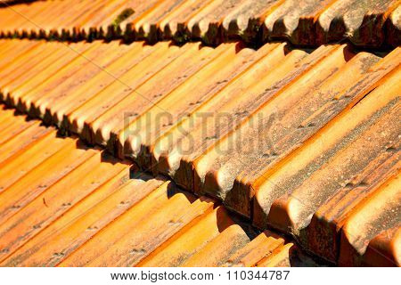 Old Roof In Italy The