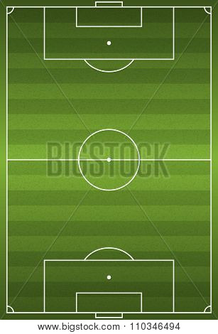 Realistic Vertical Football - Soccer Field Illustration