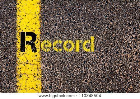 Accounting Business Acronym R Record
