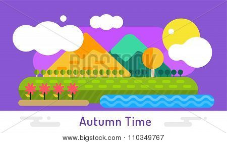 Autumn background illustration