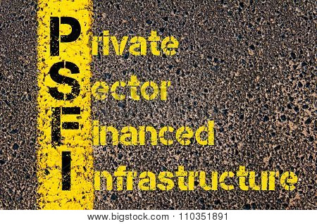 Accounting Business Acronym Psfi Private Sector Financed Infrastructure