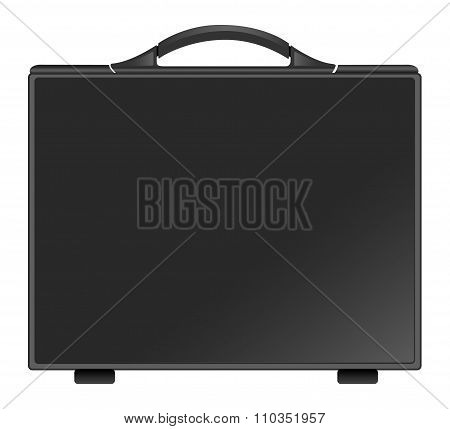 Black briefcase. Briefcase icon
