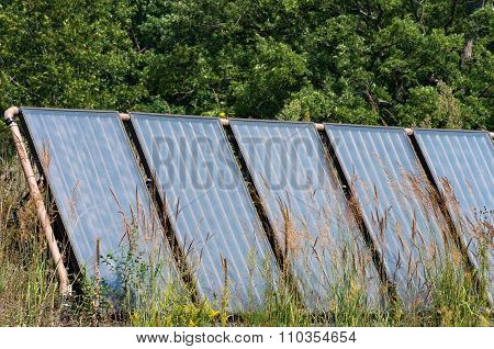 Solar Panel Array On Prairie