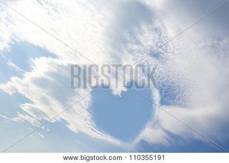 Blue Sky Love Heart