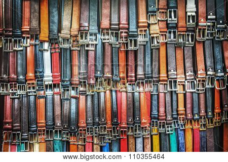 Colorful Leather Waistbands