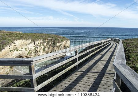 Boardwalk Along The Beach Of The Cathedrals