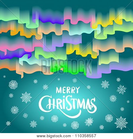 Merry Christmas In The Form Of Northern Lights In The Sky 2016