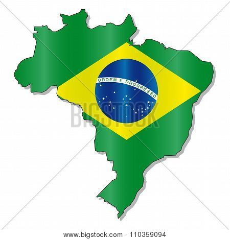 Brazilian flag map