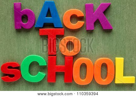 Back To School Alphabet Letters