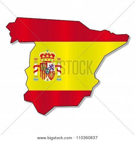 Spain flag map