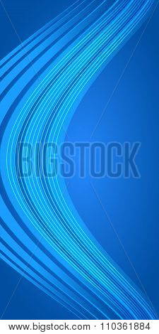 Vertical Banner Blue Light Background Bending Line