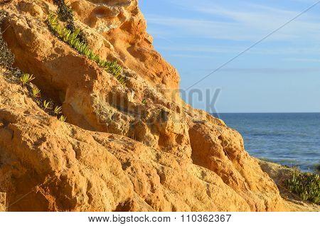 Praia Da Gale Beach spectacular rock formations on the Algarve coast